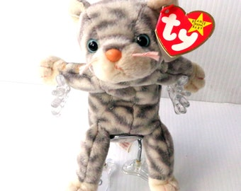a59ac93a0b8 SILVER the Cat - Beanie Baby Vintage Toy Collection