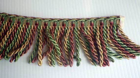 Vintage Shiny Silky Rope Tassels Trim, Home Decorating Supplies by yard,  Embellishment Tassels, Furniture Curtain Tassels, Pillow Tassels