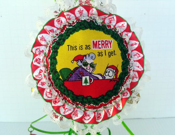 image 0 - Maxine Christmas Holiday Ornament Felt And Lace Ornament Etsy