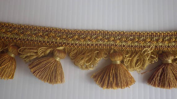 Vintage Gold Tassels, Home Decorating Supplies, Embellishment Trims,  Furniture Curtain Tassels, Home Decorating Trim, Pillow Trims Tassels
