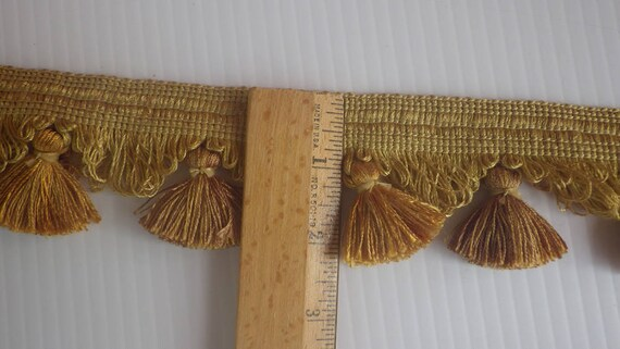 Vintage Gold Tassels, Home Decorating Supplies, Embellishment Trims ...
