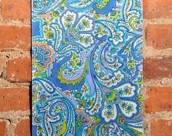 "paisley painting, fine art painting, original art, hand painted art, home decor art, wall decor art, original painting, wall art 10"" x 14.5"""