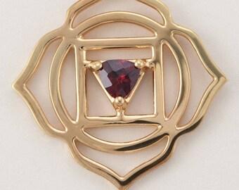 Root Chakra Necklace-Garnet