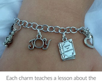 LDS Baptism Gift - Gift of the Holy Ghost Talk Charm Bracelet