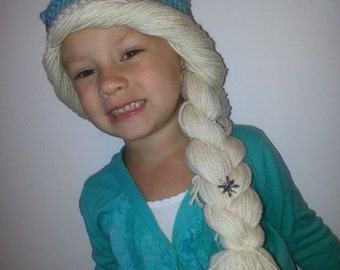 Frozen Inspired Elsa Hat Crochet Pattern size 1-3, 4-6 and 7-12