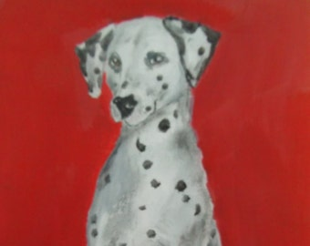 Dalmation - signed original oil painting on canvas