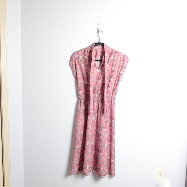 VTG 70s Praire Style Floral Mid Length Dress Size Small