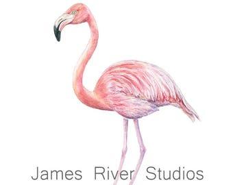 Flamingo Art Flamingo Painting Flamingo Print Flamingo Wall Art Flamingo Wall Decor Flamingo Decor Flamingo Poster Pink Flamingo Watercolor.