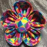 Bow Tie or Flower Collar Attachment & Accessory for Dogs and Cats / Colorful Geometric Shapes