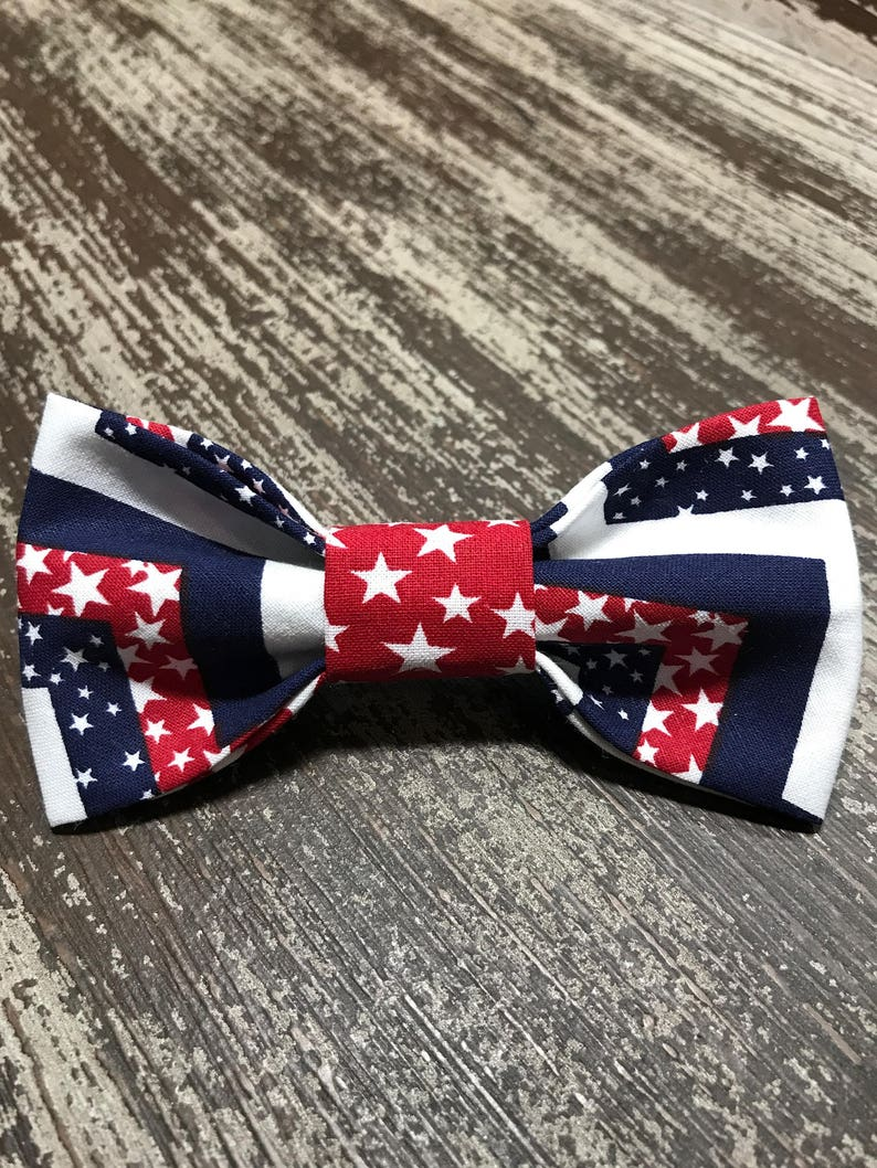 Patriotic Bow Tie or Flower Collar Attachment & Accessory for image 0