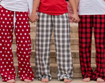 Family Christmas Pajama Pants ~ Adult Christmas Pajamas Pants for Women Kids ~ Womens Christmas Pjs Pants Family (BR083) B49