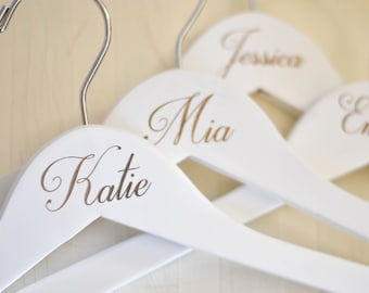Engraved Wedding Hanger Bride Bridesmaid Dress Hangers Personalized Bridesmaid Gift
