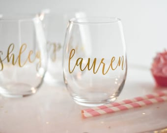 Wine Glasses Personalized Etsy