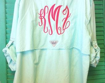 6388541610d Monogram PFG Columbia Fishing Shirt Cover Up Bathing Suit B30