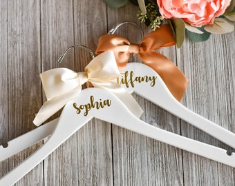 Personalized Wedding Hangers - Wedding Dress Hanger - Bridesmaid Gift