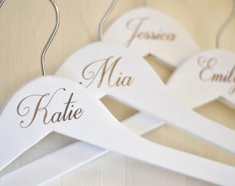 Bridesmaid Hangers Personalized Bridesmaid Hangers Wedding Hangers Bride Hanger Personalized Wedding Hanger Bridal Hanger Bride Engraved/
