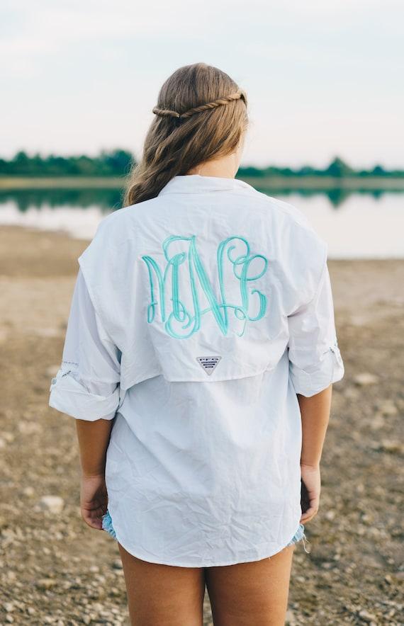 Monogram Pfg Columbia Fishing Shirt Cover Up Bathing Suit