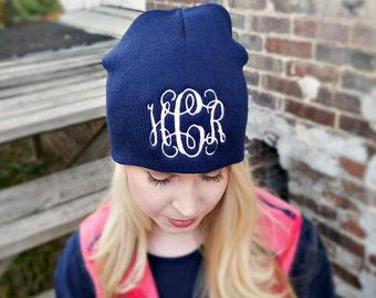 Monogrammed Beanie Hat b12
