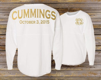Bridal Party Spirit Shirt ~ Personalized Bridesmaid Jersey ~ Bride Jersey (BR019) B32