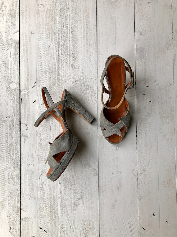 Anello & Davide Sandals | 70s Grey Platforms | Sue
