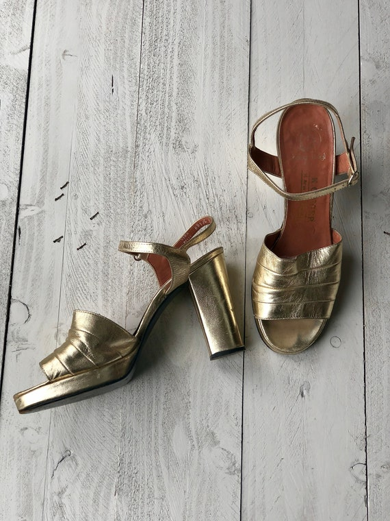Bologna & Figli for K.GEIGER Sandals | Gold 70s Pl