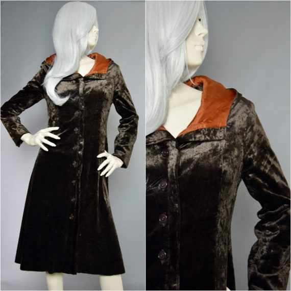 Jeff Banks Velvet Coat | 70s Panne Velvet Jacket |