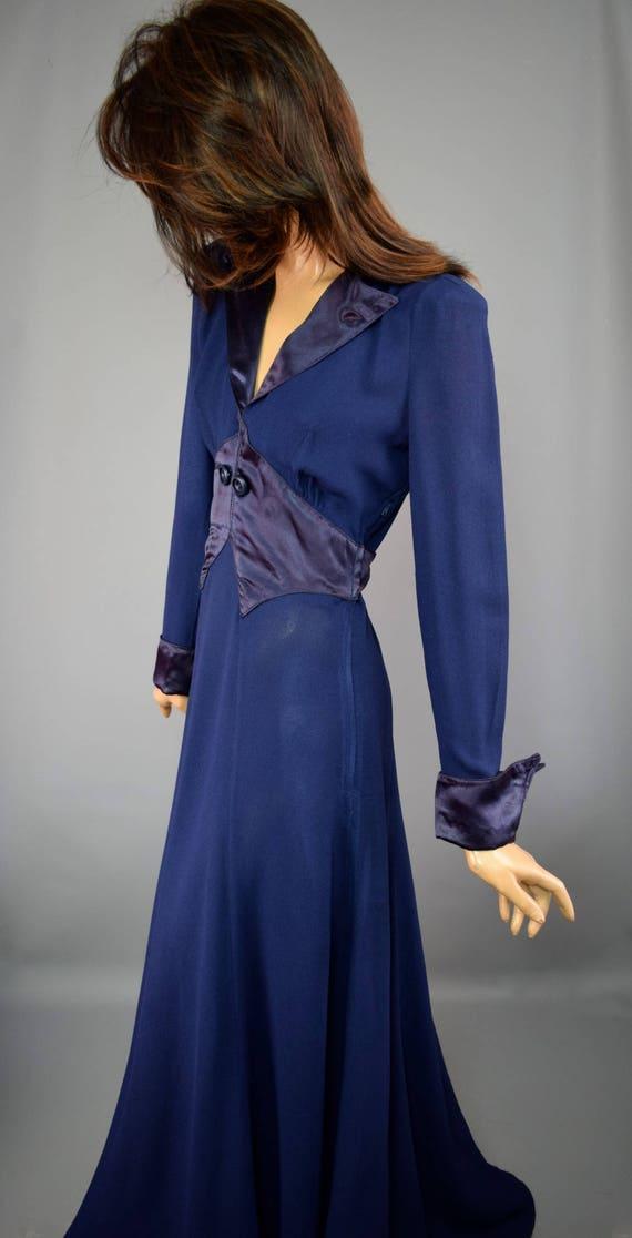 OSSIE CLARK for Radley Marvellous Midnight Blue Ta