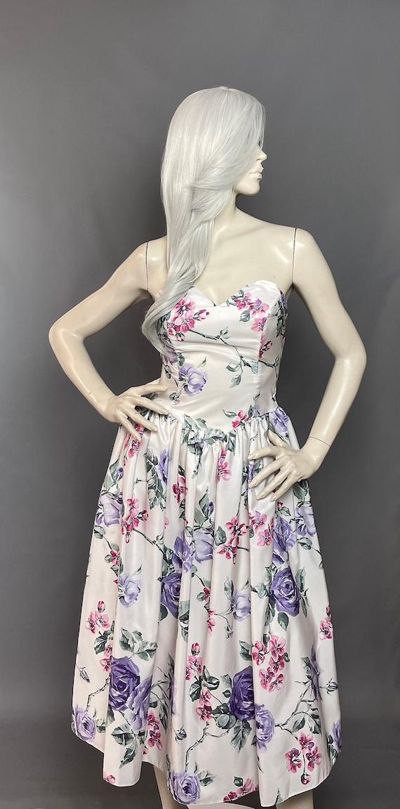 Ariella Bustier Dress   Ivory Party Dress   80s  F