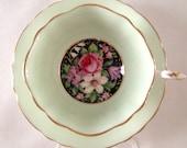 Green Paragon China Tea Cup Saucer