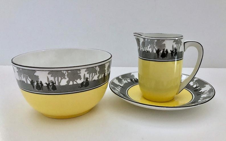Art Deco E Brain Foley China Teapot Milk /& Sugar Tea Set