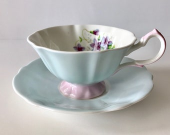 Pink Rose Queen Anne China Tea Cup & Saucer