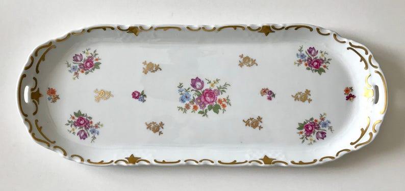 Beautiful Vintage 15.5 Reichenbach Vanity Tray