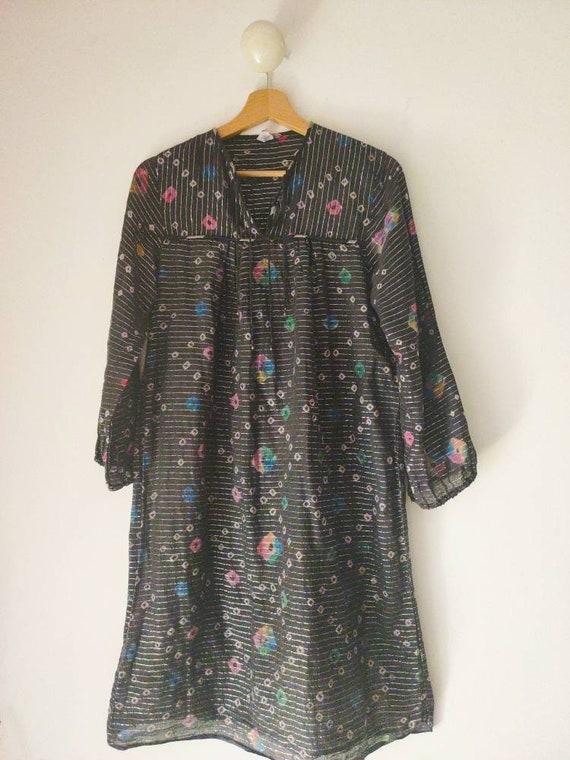 Vintage India gauze midi dress