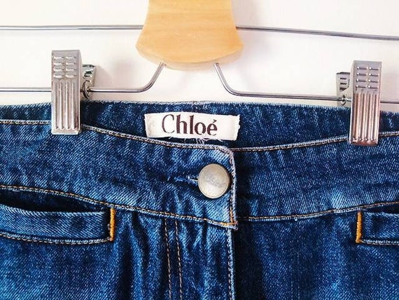 Vintage 90s Chloe' blue jeans - image 4