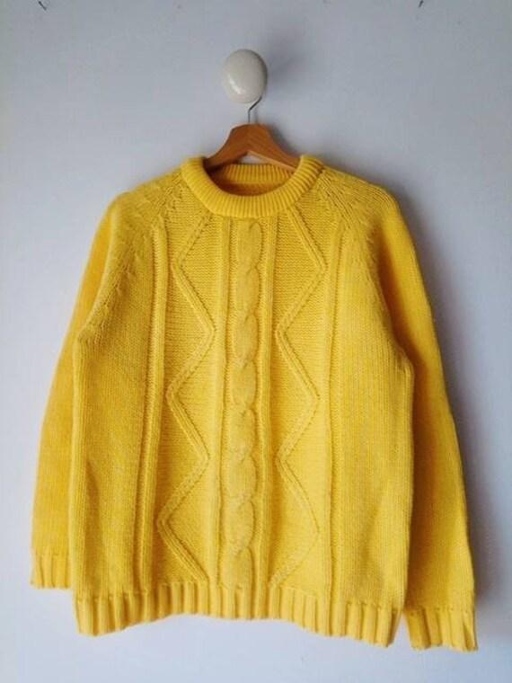 Vintage fishermam wool knit jumper