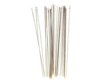 "10pc 3"" Long Size 12 Pearl or Loom Beading Needles - Extra Long 3 inch John James (pbn-12)"