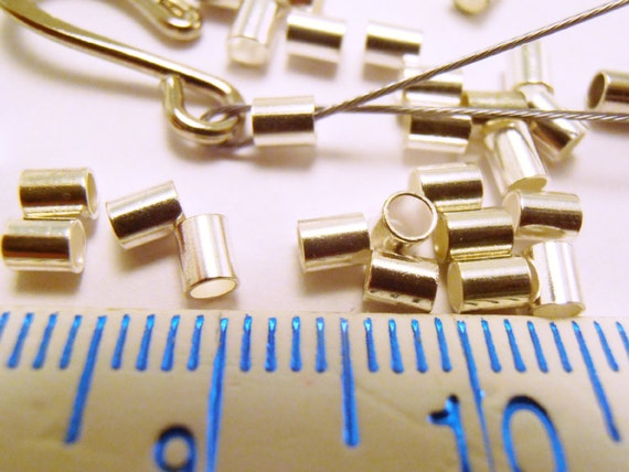 Wholesale 600pcs Silver Plated//Golden Tube Beads Crimp End Spacer Beads 1.5//2mm