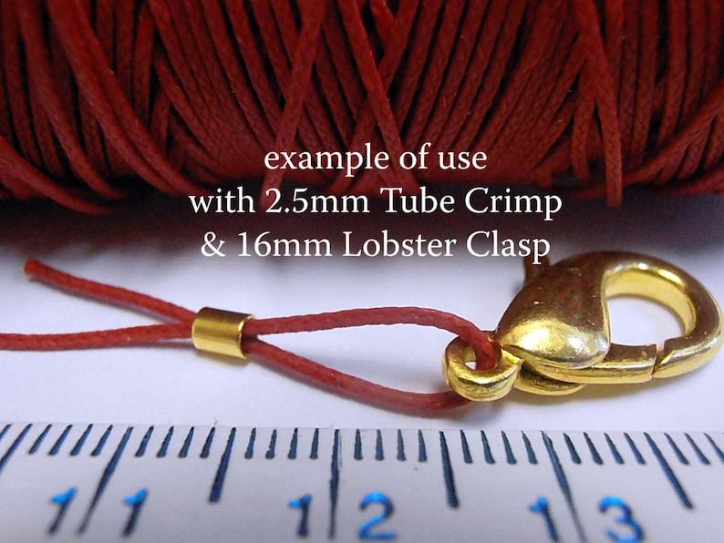 40 pc #4 Tube Crimp Beads 2.5mm OD 2.0 ID Gold Plated Crimp Bead