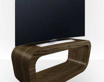 Light Zebrano Gloss TV Stand - Hooptangle
