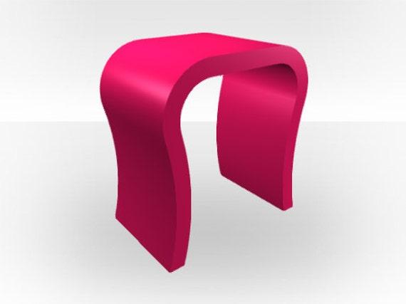 Roze glans bed tafel gebogen etsy