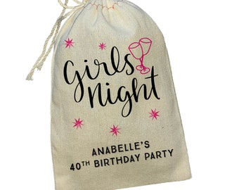 10 personalised hen birthday party girls night out party bag favor tags