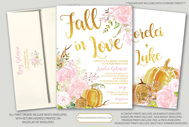 Fall Bridal Shower Invitation // Pumpkin Bridal Shower // Floral ...