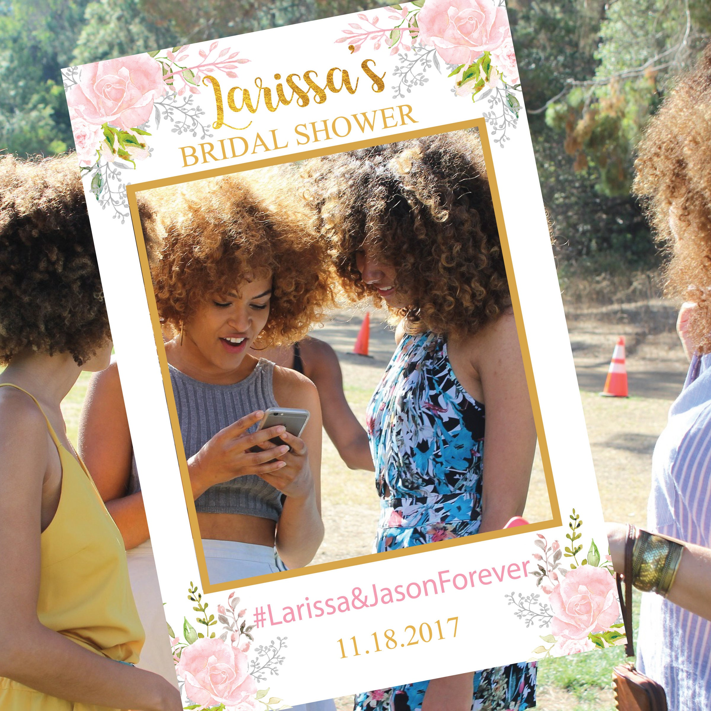 Wedding Photo Booth Frame // Wedding Selfie Frame / Photo Prop Frame ...