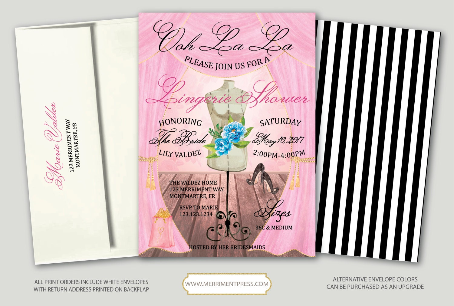 French bridal shower invitation lingerie shower invitation french bridal shower invitation lingerie shower invitation floral paris vintage watercolor montmartre collection filmwisefo