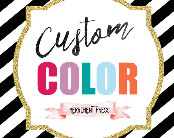 Merriment Press Custom Color Add-On