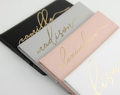 Signature Script Passport Cover and Luggage Tag - Faux Leather, Personalized Gift, Luggage Accessory, Custom Luggage, Vegan, Traveller