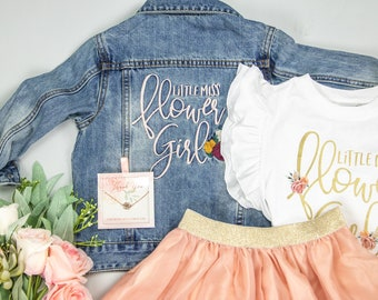 Princess of the Petals Flower Girl Shirt Flower Girl Outfit Flower Girl Proposal Baby Girl Tutu Outfit Flower Girl Rehearsal Dress