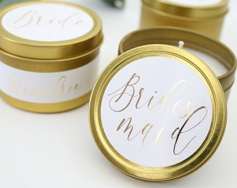 Scented Candle F-TC01G Candle Favors Custom Candle Bridal Party Custom Candles Soy Candle Home Candle Candle Gift Wedding Candle