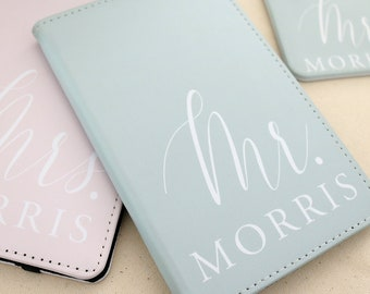 Personalized Passport and Luggage Tag - Mr and Mrs Custom Name Bridal Shower Wedding Gift Gift New Bride Passport Luggage Tag H-PH01SU