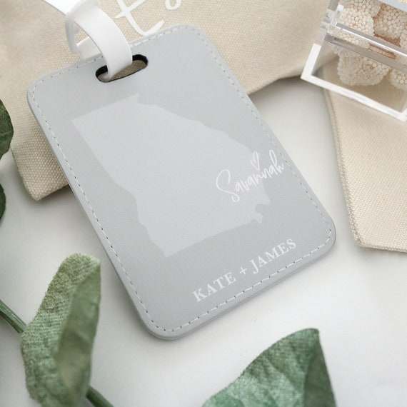 Personalized Luggage Tag State Love Luggage Tag Bridal Etsy